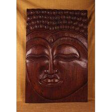 Wood Panels Meditative Buddha Wall Décor