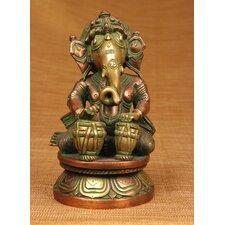 Brass Series Ganesha Playing Different Instruments Figurine