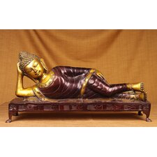 Brass Series Reclining Buddha Figurine