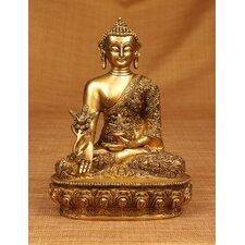 Brass Series Nepalese Earth Touching Buddha Figurine