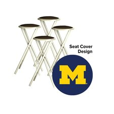 """Collegiate 30"""" Bar Stool with Cushion (Set of 4)"""