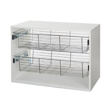 Organized Living freedomRail Chrome Basket with Glide