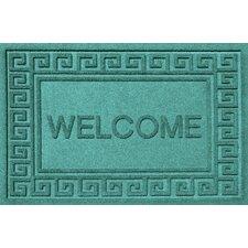 Aqua Shield Greek Key Welcome Doormat