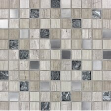 """Castle Rock 1"""" x 1"""" Glass & Natural Stone Mosaic Tile in Multi"""