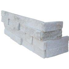Random Sized Natural Stone Splitface Tile in Arctic White