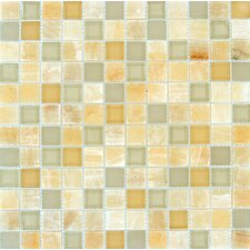 "1"" x 1"" Glass Mosaic Tile in Honey Caramel"