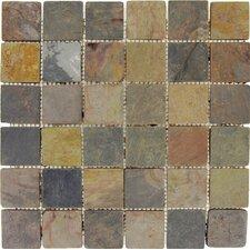 "Classic 2"" x 2"" Slate Mosaic Tile in Multi"