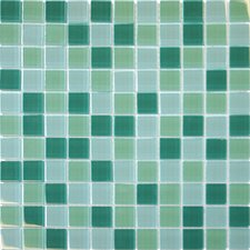 """1"""" x 1"""" Glass Mosaic Tile in Green"""