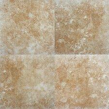"""Travertino 12"""" x 12"""" Porcelain Field Tile in Walnut"""