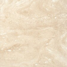"Tuscany Ivory 24"" x 24"" Travertine Field Tile in Honed Beige"