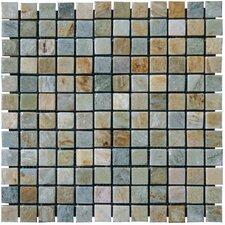 """1"""" x 1"""" Slate Mosaic Tile in Golden White"""