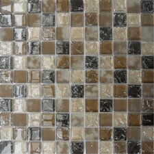 Pacific Dunes Mounted Blend Glass Mosaic Tile in Brown