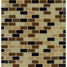 Desert Spring Mounted Glass Mosaic Tile in Brown