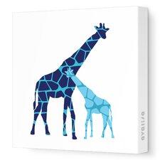 Animals Giraffe Graphic Art on Canvas