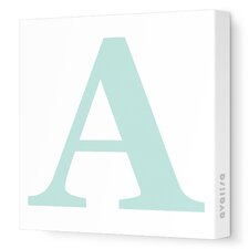 Letter Upper Case Stretched Graphic Art on Canvas