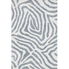 Kiara Shag Ivory/Gray Area Rug