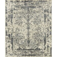 Pearl Hand-Knotted Heather Gray/Navy Area Rug