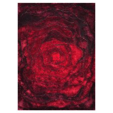 Glamour Red  Area Rug