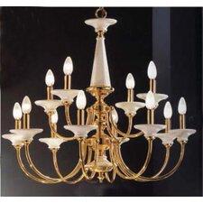 Spanish Ceramic 12 Light Chandelier