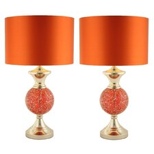 """Katelyn 24"""" H Table Lamp with Drum Shade (Set of 2)"""