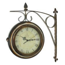 "Rialto 15"" Two Sided Train Station Wall Clock"