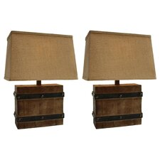 "10"" H Table Lamp with Rectangular Shade (Set of 2)"