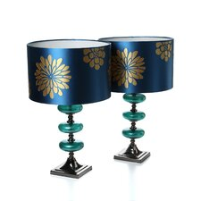 """Vernon 23"""" H Table Lamp with Drum Shade (Set of 2)"""