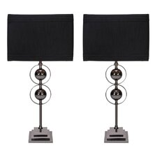 """Jaren 25"""" H Table Lamp with Drum Shade (Set of 2)"""