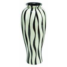 Zebra Print Floral Vase