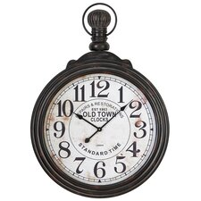 "Oversized 28"" Pocket Watch Style Large Wall Clock"
