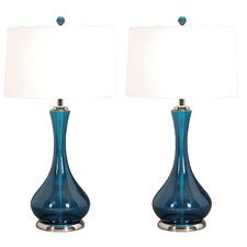 "Jodi 28"" H Table Lamp with Drum Shade (Set of 2)"