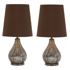 """Madoline 26"""" H Table Lamp with Empire Shade (Set of 2)"""