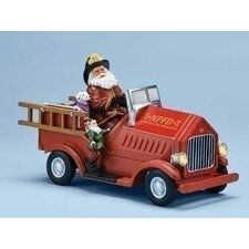 Mus Lighted Firetruck with Santa Figurine