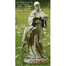 St. Francis with Horse Statue