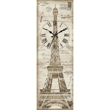 Canvas Eiffel Tower Wall Clock