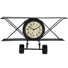 Metal Vintage Airplane Quartz Table Clock