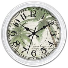 "16"" Palm Tree Wall Clock"