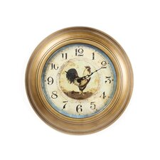 "14"" Provence Rooster Wall Clock"