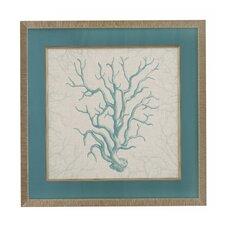 Coral Motif II Framed Art