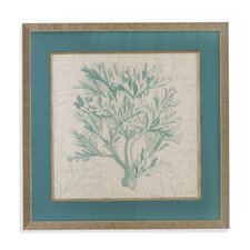 Coral Motif I Framed Painting Print
