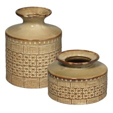 2 Piece Astral Vase Set