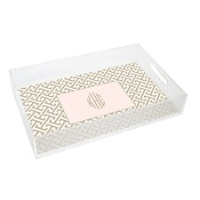 Everyday Tabletop Greek Key Lucite Tray