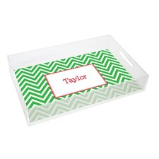Everyday Tabletop Chevron Lucite Tray