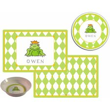 The Kids Tabletop 2 Piece Frog Prince Placemat Set