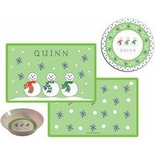 The Kids Tabletop 2 Piece Jolly Snowmen Placemat Set