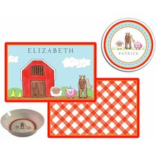 The Kids Tabletop 2 Piece Down on The Farm Placemat Set