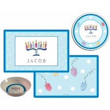 The Kids Tabletop 3 Piece Hanukkah Placemat Set