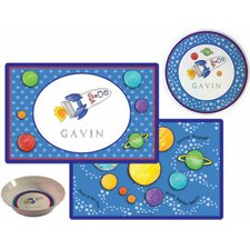 The Kids Tabletop 2 Piece Blast Off Placemat Set