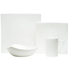 Extreme White 16 Piece Dinnerware Set