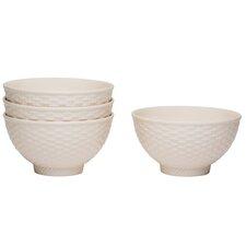 Nantucket White Fruit Bowl (Set of 4)